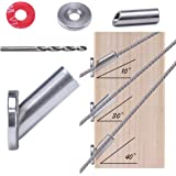 """Muzata Adjustable Angled Protector Sleeve for 1/8"""" Cable Wire Rope Stair Railing,Compatible10 30 40 Degree,Beveled Grommet Pr"""