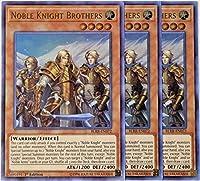 遊☆戯☆王–3x Noble Knight Brothers blrr-en072–Ultra Rare–1st Edition–NM/M
