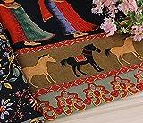 民族柄 綿 麻 布 生地 手芸 衣類用 幅145cm 長さ200cm カラー 花柄 刺繍 中華風 コットンリネン ハンドメイド (インド風)