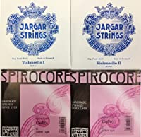 チェロ弦セット セシリアムジカ・セレクション JARGAR & SPIROCOREクローム巻(Weich)