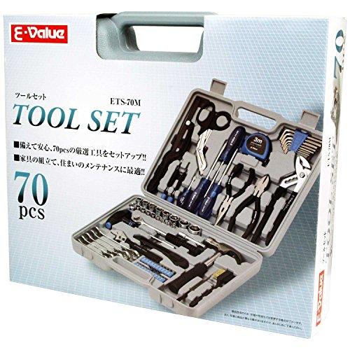 E-Value (イーバリュー)  ツールセット 家具の組み立て・住まいのメンテナンス用  70pcs ETS-70M