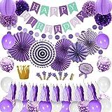 誕生日デコレーション パプール 飾り付け ベビーシャワー 誕生日 女の子 Happy birthdayバナー 紙吹雪 紙提灯 ペーパーファン ペーパーフラワー ペーパーゴールデンクラウン 空気入れ 100日 半歳 一歳