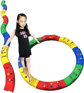 平均台セット バランスストーン バランスボード 子供用 体幹 トレーニング 安全 スポーツ アウトドア 屋内 幼稚園 バランス遊具 [遊びで子供のバランス感覚と運動能力がアップ] 多色 自由に組替可能 (12個で1セット)
