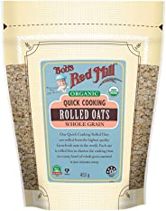 Bob's Red Mill Organic Quick Cooking Rolled Oats, 453g