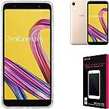 シズカウィル(shizukawill) ASUS ZenFone Live (L1) ZA550KL ケース 専用 高透明 衝撃吸収 防指紋 落下防止 TPU ゼンフォン ライブ zenfonelive ZA550KL ソフト クリア ケース カバー