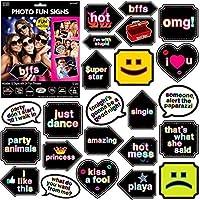 """カーニバルFair Fun Let 'sパーティー写真Fun Signsゲームパーティーアクティビティ、6"""" x 7cm、12パック 14165894"""