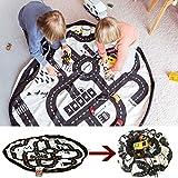 おもちゃ収納袋&プレイマット 2in1 ロードマップ遊び 片付けらくらくストレージ 洗濯機洗い可能 Roadmap Play Mat And Toy Organizer Storage (ロードマップ)