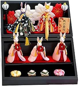 【うさぎ雛人形】和み舎 桃の節句 雛人形 段飾り (三段) 花かさね 花楽堂特注仕様商品