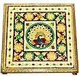 Vrindavan Bazaar Chowki Laminated Flower Design for Home Décor | Worship Accessory
