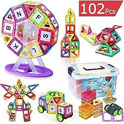 磁石ブロック マグネット 立体パズル 磁気おもちゃ 知育玩具 子供プレゼント 多彩 外しにくい 磁石付き積み木 カラフル磁性構築ブロックのおもちゃ FlyCreat磁気建設玩具 ゲーム モデルDIY 想像力と創造力を育てる知育 玩具 赤ちゃん 男女の子のおもちゃ お祝い入園プレゼント マグマジックブロック