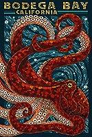 Bodega Bay , California–Octopusモザイク 12 x 18 Art Print LANT-53503-12x18