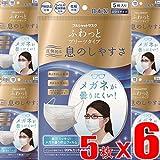 【5枚x6袋】日本バイリーン フルシャットマスク ふわっとプリーツタイプ ふつうサイズ 5枚入りx6袋(4976118601742-6)