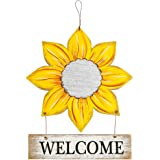 #G-D302A00-US Sunflower Welcome Decorative Signs, Wooden Board Hanging Door/Wall Plaques, for Front Porch, Bar, Cafe, Shop St