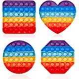 4 Push-Push Popular Bubble Sensory Toys, Silicone Toys for Autistic People who Need Special Stress Relief, Fidget Toys for Ad