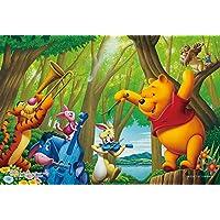 99ピース ジグソーパズル くまのプーさん 森の音楽隊 【プチライト】(10x14.7cm)