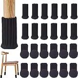 VALUCKEE 24PCS Chair Leg Socks High Elastic Furniture Socks Pads, Non-Slip Chair Leg Feet Socks Covers Furniture Caps Set, Kn