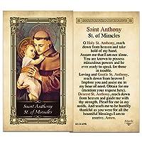 Saint Antony聖of MiraclesラミネートPrayerカード–パックof 25