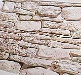 PEGAZOU(ペガ蔵) とてもリアル はがせる 壁紙 シール 3D レンガ 石目調 月光石 45cm×10m