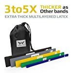 Extra Thick Exercise Resistance Band Set of 5 Bands for Fitness Booty Exercise Loops ARRIA FIT Heavy Duty Resistance...