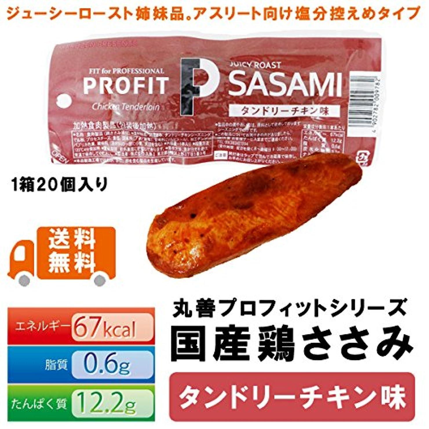 非効率的な縞模様のかわいらしい丸善 PRO-FIT プロフィットささみ 鶏ささみ タンドリーチキン味 1箱20本入り