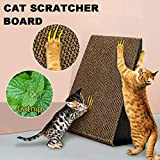 Triangle Cat Corrugated Scratcher Kitten Pet Claw Cardboard Scratching Post Board Bed Toy Mat Pad Catnip
