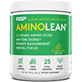 RSP Vegan AminoLean - All Natural Preworkout with Vegan BCAAs, All-In-One Amino Energy, Weight Management, Recovery, and Focu
