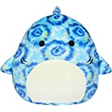 """Squishmallows 16"""" Blue Tie Dye Luther The Shark"""