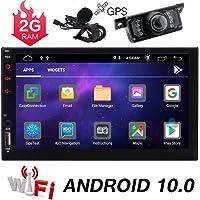 ダブルディンAndroid 10.0カーステレオGPS 7インチタッチスクリーンカーラジオBluetoothナビゲーショ…