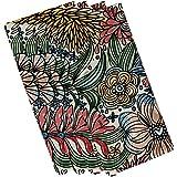 E by design flora and fauna Zentangle花柄ナプキン – 4のセット 19 x 19