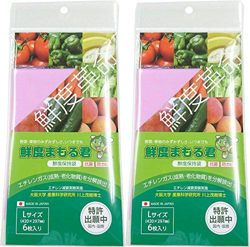グリーンフィールド 野菜鮮度保持袋 鮮度まもる君 Lサイズ SM-905 6枚入 2個セット