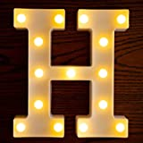 Yorulory LED Letter Lights Sign Letters Light Up Letters Sign for Night Light Wedding Birthday Party Battery Powered Christma