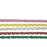 NICO-STYLE 【知育玩具】国産 プラスチックチェーン 5色セット おままごと 食べ物 キッチン 保育園 児童館…