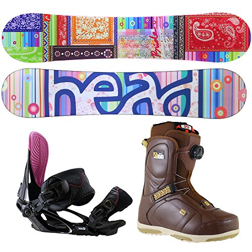 [해외]HEAD (헤드) 스노우 보드 3 종 세트 플레이트 바인딩 부츠 여성 board-set-p/HEAD (head) snowboard 3-piece set board binding boots ladies board-set-p