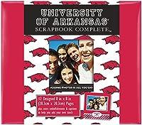 "C・R・ギブソン完了スクラップブックキット、アルバムで、学校カラーOfficialy Licensed NCAA、メジャー8"" x 8""–Arkansas Razorbacks Approximately 12"" x12"""