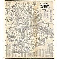 状態Atlas | 1938Thomas bros.南Pasadenaパサデナ、Altadena、とSan Marino、カリフォルニアのマップ。| Historicアンティークヴィンテージ再印刷 24in x 25in 565898_2425