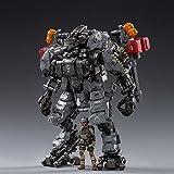 HiPlay JoyToy 1/25 SF 暗の源シリーズ 機甲 ロボット 可動 フィギュア-Steel Bone H05 Heavy Firepower Mecha-Gray