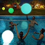 Light Up Pool Floats LED Beach Ball Volleyball Pool Toy 16 Colors Glow Ball 16'' Inflatable Floating Ball with Remote , The D