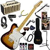Squier エレキギター 初心者 入門 セミ・ホロウ・ボディのテレキャスター「シンライン」。 レトロなデザインで多機能・高音質のYAMAHA THR5が入ってる大人の19点セット V.Modified '72 Tele Thinline/3CS(3カラーサンバースト)