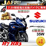 JAFIRST  Premium HID ◆SUZUKI バンディット1250F ABS ◆ H7/HB3 LO/HI 6000K 2灯分 35W超薄 超低電圧起動バイクに最適 6層基盤