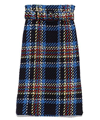 (ミラオーウェン)Mila Owen ツイードチェックベルト付タイトスカート