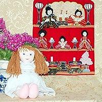 """おひなまつり 布の壁掛けおひなさま  &スモッキングドレス人形""""アンジェラ""""   おひなまつりギフトセット 初節句"""