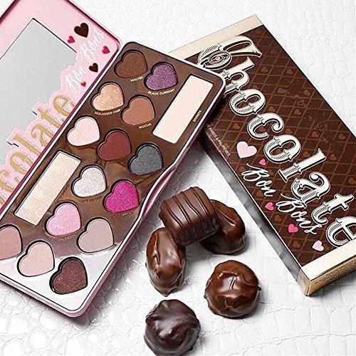 OSHIDE アイシャドウパレット 32色 可愛い チョコレートのようなアイシャドウ パール/マット 2in1 おしゃれ ハイライト チーク 携帯便利 極め細かい 独特のバレンタインデープレゼント 2種セット