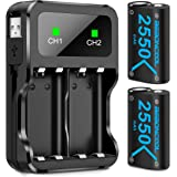 Controller Battery Pack for Xbox One, BEBONCOOL 2x2550 mAh Rechargeable Battery Pack for Xbox One/Xbox One S/Xbox One X/Xbox
