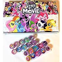 20異なるDisney My Little Pony self-inking Stamps Stampers鉛筆トッパーAuthentic Licensed