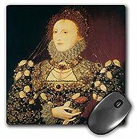 3drose 8x 8x 0.25インチマウスパッド、Queen Elizabeth I by Nicholas Hilliard ( MP _ 128071_ 1)