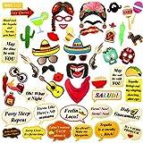 Fiesta 写真ブース用小道具 メキシカン写真ブース小道具 フィエスタパーティーデコレーション/メキシカンパーティーデコレーション用 メキシコのフィエスタデコレーション/メキシコのデコレーション/フィエスタパーティーの記念品/メキシカンテーマパーティー用品