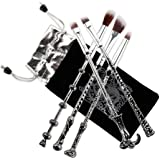 Potter Makeup Brush,Ithyes Wizard Magic Wand Brush Gift Set 5 Pieces Nice Hair Bristle Fancy Look, Silver Black