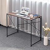 Computer Desk Modern Simple Study Desk Industrial Style Folding Laptop Table for Home Office - Wild Oak