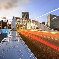 Yeele City Backdrops 9x 9ft/2.7X 2.7Mロング露出Bridge Night View画像大人用芸術的肖像写真の撮影小道具写真撮影背景