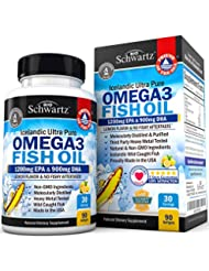 BioSchwartz Omega 3 Fish Oil Supplement with 1200mg EPA, 900mg DHA 90粒